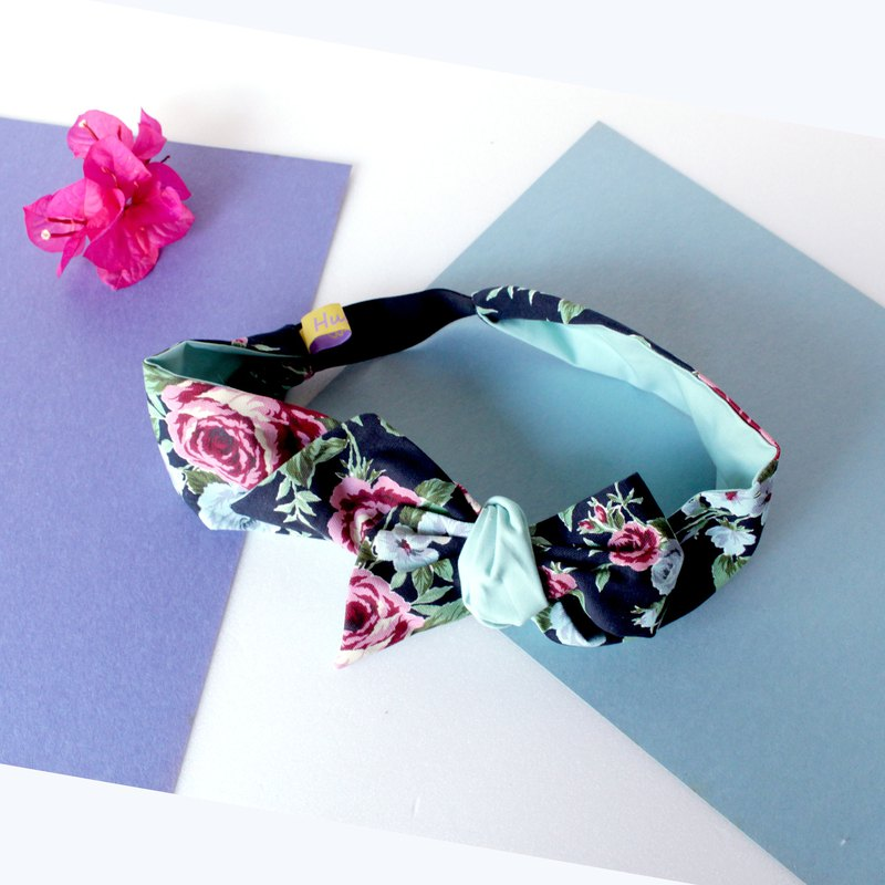 Rose Printed Headband