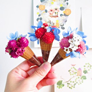 [Mini Dry Flower Ice Cream] (each bundle is packed in a transparent Opp bag) Dry Flower Ice Cream