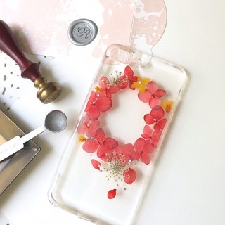 Laurustinus::pressed flower phonecase Happy Mother's Day