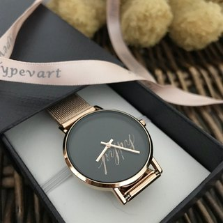 Calligraphy/ Personalized Watch- Rose Gold