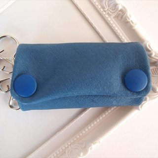 [Full] Blue pig leather soft key case [MTO] blue leather 1611003