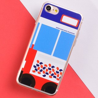 Retro Means of Transports in Hong Kong Style iPhone X Phone Case - Softee