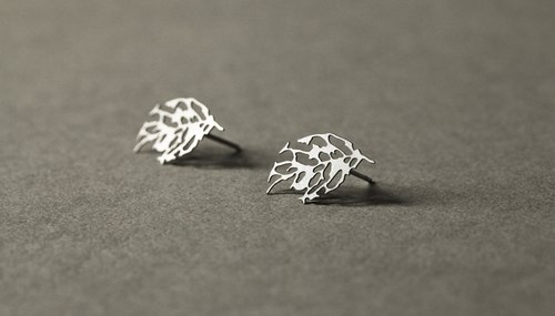 葉脈耳環 Skeleton Leaf Earrings