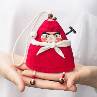Handmade embroidery Chinese traditional handmade embroidery Chinese sachet sachet sachet home repellent mosquito pendant doll doll Genuine authorized animation around the cute and lovely childlike handmade embroidery + hand-woven homespun original design h