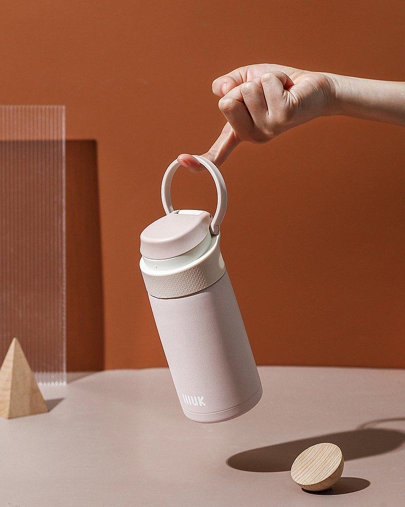 IIIUK彈跳蓋保溫杯女士精緻高檔學生簡約便攜帶濾網泡茶男女水杯