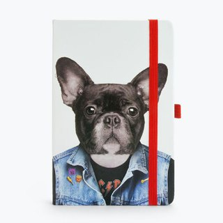 British Mustard Blank Notebook - Cool Dog