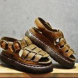 Tsubasa.Y 古著屋 卡其色 002馬汀涼鞋,Dr.Martens England