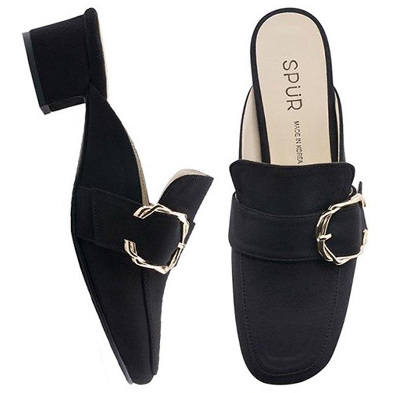 Pre-Order SPUR 扭曲扣穆勒鞋 OF9022 BLACK