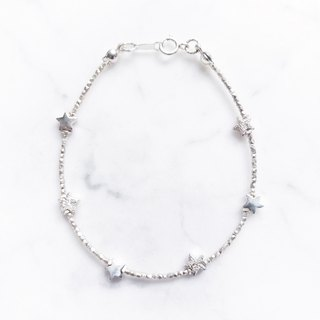 ::Xingyue Series :: Star Mini Multi-cut Silver Block Bracelet Anklet Dual-purpose Chain