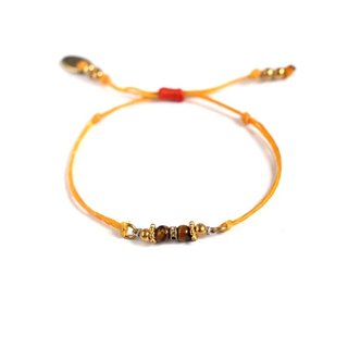 [UNA- excellent Na] handmade wax line silk summer sun brass bracelets customized