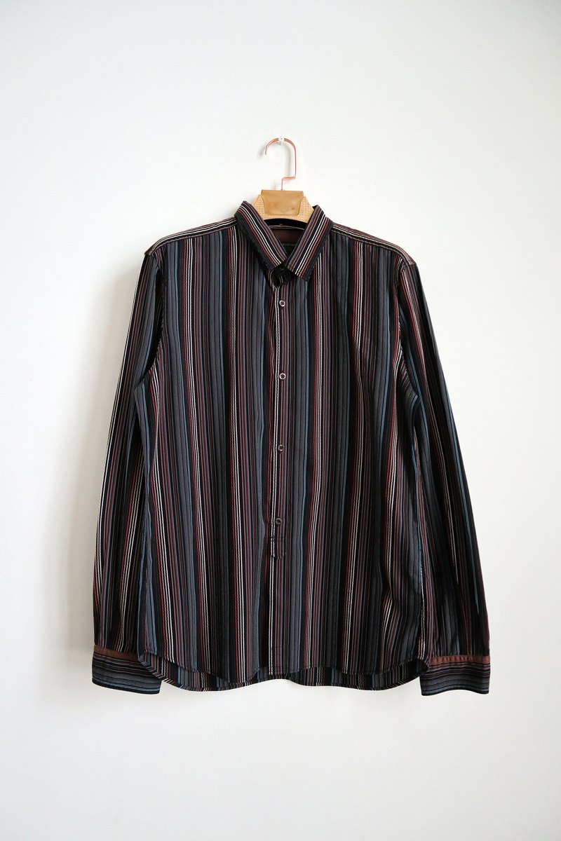 Pumpkin Vintage. Vintage striped shirt
