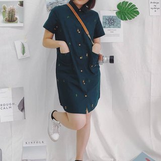 Shirt Dress (Camping) : Green