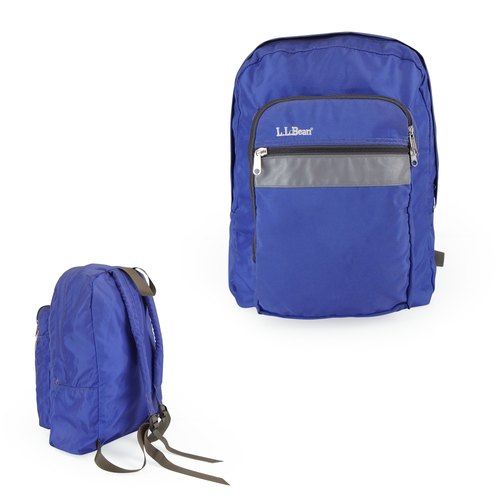 A‧PRANK: DOLLY :: retro VINTAGE brand LLBean purple blue backpack