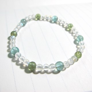 [Ni] blue Phosphorescent x Green Phosphorescence x Moonstone - Handmade natural stone series