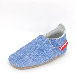 """Taiwan hand"" ""Mimi preferred"" MORNING GLORY cowhide toddler / children's shoes (fine blue)"
