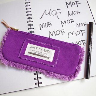 MOF Kurashiki canvas fringe pen case Dolce grape