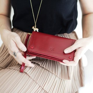 Kylie wallet : wallet, Leather wallet, Red wallet, Genuine wallet