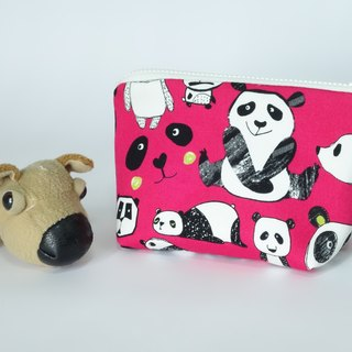 Play cloth hand made. Cute Panda Triangle Universal bag purse