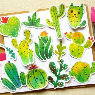 Cactus stickers group - [waterproof stickers]