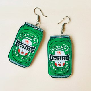 ISATISSE Canned Beer Earrings