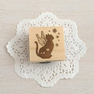 Angel Cat's Eraser Hanko
