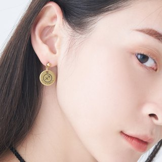 Constellation symbol ore small planet asymmetric earrings