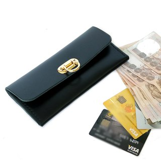 กระเป๋าหนังแท้ Minimal Wallet Black Color Hand-cut & Hand-sew process