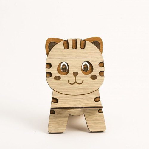 Wooden Formula (Customized - Color Patterns can be replaced) Wooden Phone Holder - 12 Zodiac (Tigers) Mobile Phone Holder / Ornament / Business Card Holder / Gift / Premium / Mobile Phone Accessories / Stationery