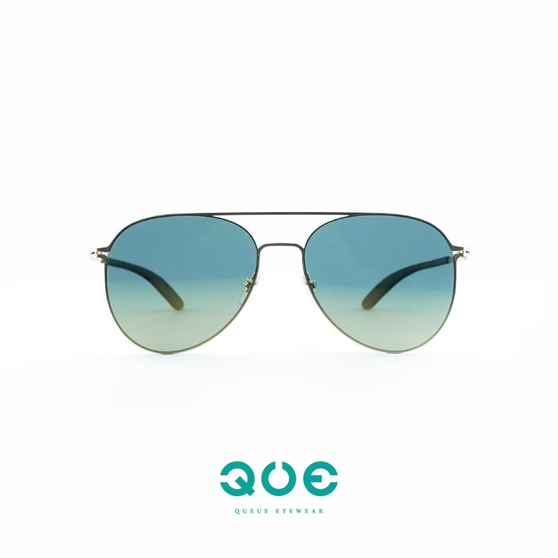 QUE-Germany thin steel / classic flying mirror - sunglasses / [no screw design] texture matte gold
