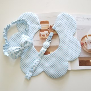 Blue little bit of beauty gift hair + nipple clip + bib