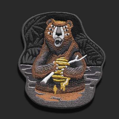 BEAR Embroidered Patch Design