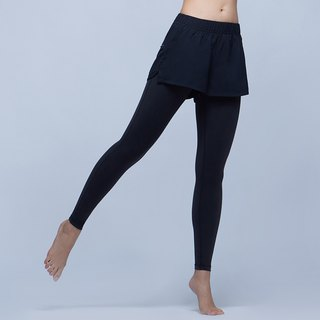 [MACACA] stable small hip sports trousers - ARE7021 black