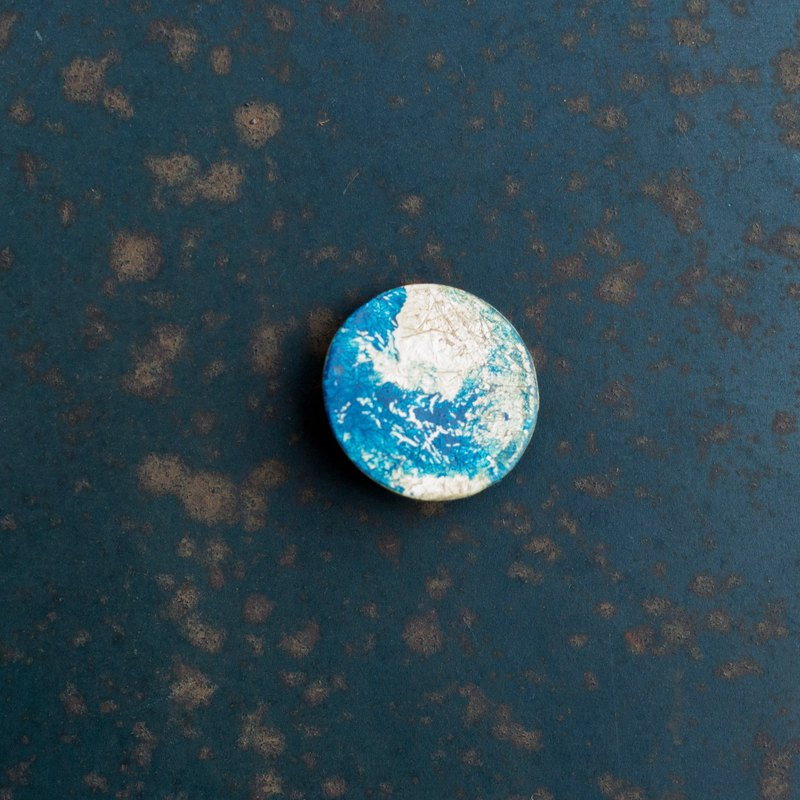 Blue Moon - Art brooch exclusive custom Valentine's Day gift