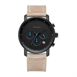BROOKLYN SPECIAL EDITION Black Dial / Light Brown Leather Watch