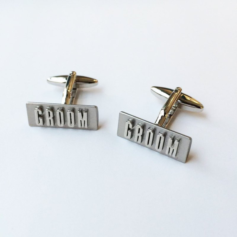 Marriage Series - Groom (GROOM) Cufflinks GROOM Cufflink