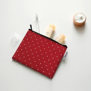 Dailylike Natural waterproof cotton bag M-04 pane red, E2D03589