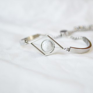 Moon Rhombus Bangle -- silver