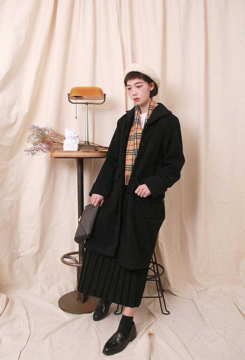 Back to Green:: 羊毛大衣 大翻領 日本製 vintage overcoat