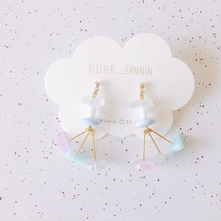 Magic Stage Series - Transformed Little Witch Dangle Handmade Earrings Ear/Ear clip