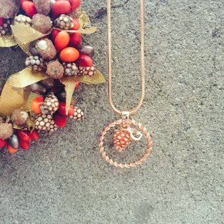 Oops - Clavicle Brass Wreath Pine Nut Necklace - Christmas Present -