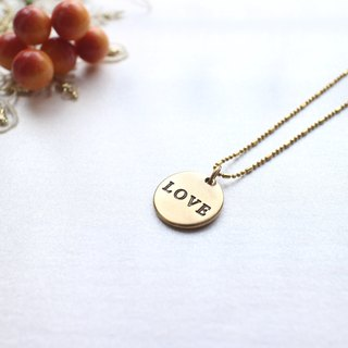 Say Love-Brass necklace