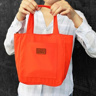 LAPELI │ nylon bag / mother pack full of bright orange