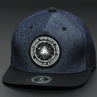 Hexagon magic symbols / Glitter denim dark blue / baseball cap