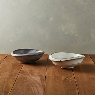 There is a kind of creativity - Japan Meinong - Shino feels in the pottery group (2 pieces)