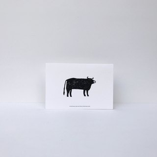 | Cow | forest cancan card (with envelope)