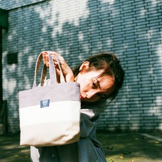 Tote bag (drink double cup bag) _ lotus purple rice white deep rice (spot)