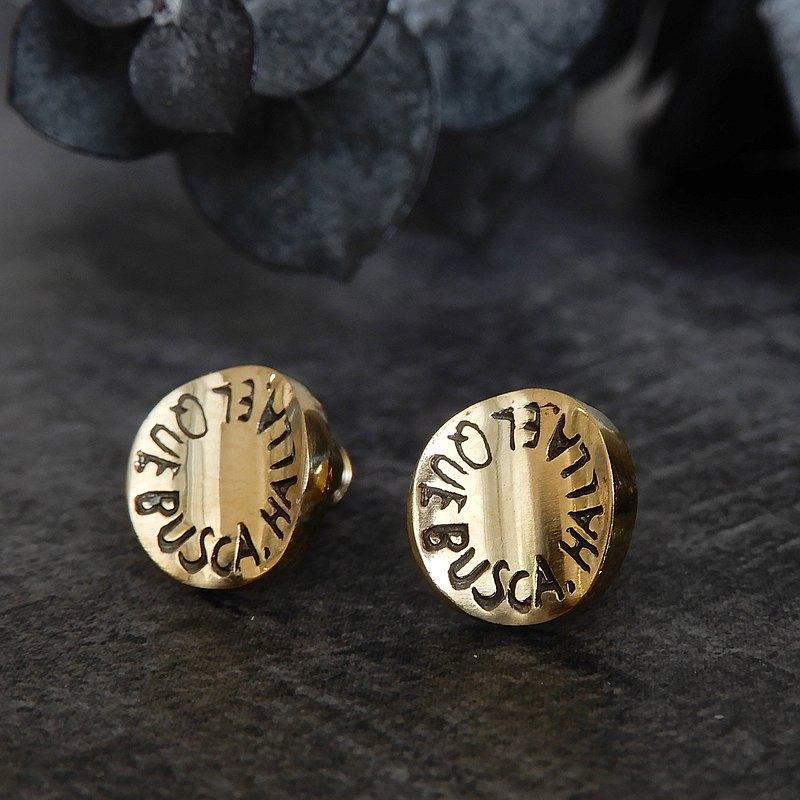 [訂購生產]消息耳環/黃銅