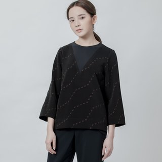 O.OO波紋印花上衣 O.OO Studio Wave Printed Top