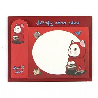 JETOY, sweet cat self adhesive sticky book _Red hood J1711309