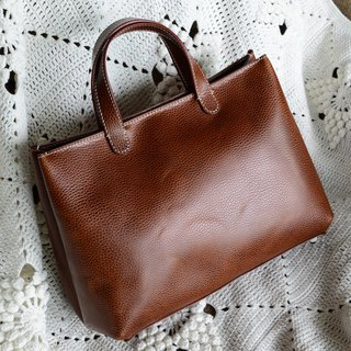 Can hand-made pure custom business casual ladies handmade brown cross leather cowhide bag